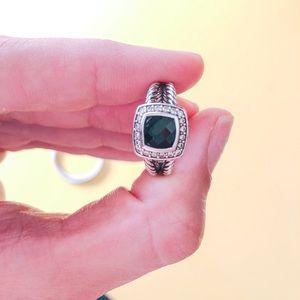 David Yurman Black Onyx Diamond Petite Albion Ring
